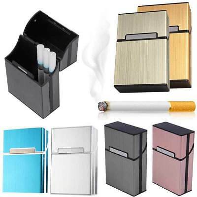 Aluminum Alloy 20 Cigarettes Storage Case Pocket Box Tobacco Container Holder UK • 5.59£