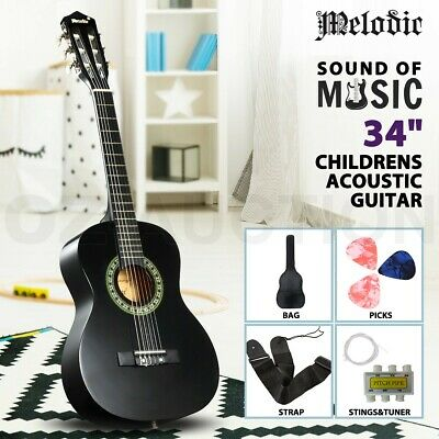 AU59.95 • Buy Melodic 34inch Acoustic Childrens Guitar 6 Strings Tuner Circle Wooden Kids Gift
