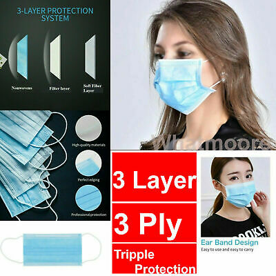 AU29.99 • Buy Face Mask Surgical Earloop Mask Medical Grade High Quality Anti-Bacterial 3Layer