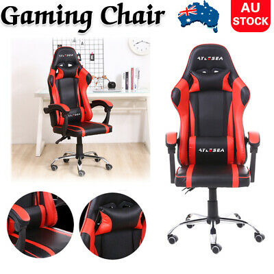 AU118.84 • Buy Gaming Chair Office Executive Computer Leather Chairs Seating Racing Recliner AU