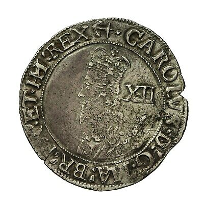Charles I Hammered Silver Shilling  Mm Anchor  S2796 • 325£