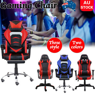 AU155.09 • Buy Gaming Chair Office Computer Chairs Racer ExecutiveRacing Recliner Seat Footrest