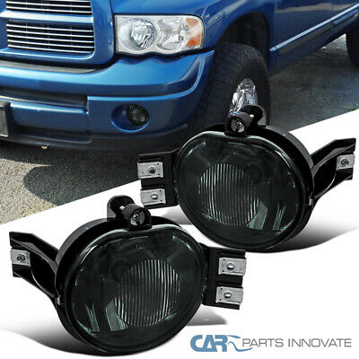 $34.95 • Buy For 02-08 Dodge Ram 1500 2500 3500 04-06 Dodge Durango Smoke Fog Lights+Bulbs