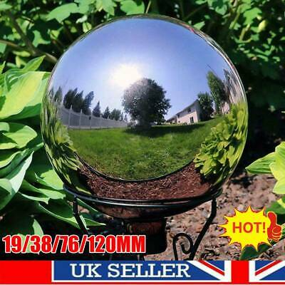 Stainless Steel Silver Mirror Sphere Hollow Ball Home Garden Ornament Decor UK • 4.99£