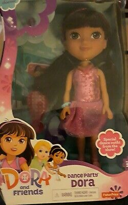 DORA AND FRIENDS Dance Party Dora Doll Fisher-Price Nickelodeon • 10£
