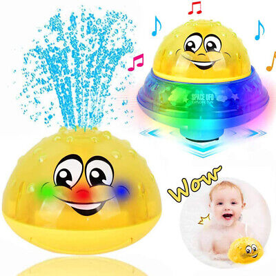 Baby Bath Toys Space Water Spray Toy Light Electric Induction Sprinkler Kid Gift • 10.19£