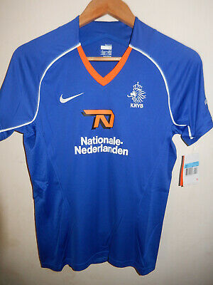 New Holland Netherlands Away Blue WOMAN'S Football Shirt Jersey Nike BNWT M  • 9.95£