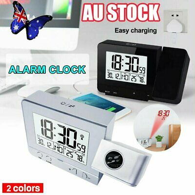 AU26.97 • Buy Smart Digital LED Projection Alarm Clock Time Temperature Projector LCD Display#