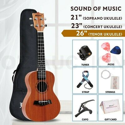 AU64.95 • Buy Melodic Tenor 26  Mahogany Ukulele For Beginners Hawaii Guitar W/Carry Bag Tuner