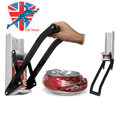 £9.49 • Buy Tin Can Crusher With Bottle Opener 16OZ 500ML Wall Mounted Recycling Tool
