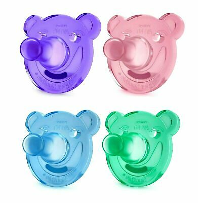AU22.95 • Buy Philips Avent Bear Soothie 0-3 Months - 2 Pack - BPA Free Different Colours