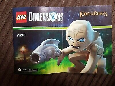 Lego Dimensions The Lord Of The Rings Gollum Fun Pack *manual Only* 71218 🔥🔥 • 1£