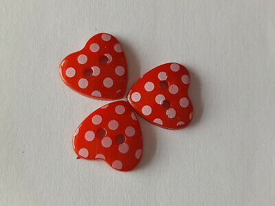 Wooden Flower Shaped Buttons 20mm Assorted Colours And Pack Of 10 • 1.65£