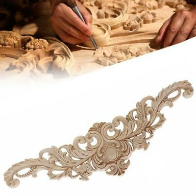 $2.91 • Buy Lot Wood Carved Corner Onlay Applique Unpainted Frame Decal Home Furniture Decor
