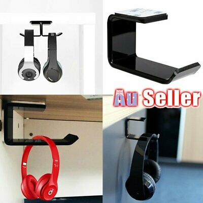 AU8.95 • Buy Headphone Stand Hanger Holder Dual Headset Tape Under Desk Hook Clever Mount D7