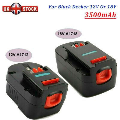 Ni-MH Battery Compatible With Black&Decker 12V A12 A12EX A1712, Or 18V A18 HPB18 • 17.96£