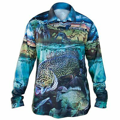 AU59.90 • Buy Brand New - Profishent Tackle Fishing Shirt Sublimated Yellow-Belly Murray-Cod K