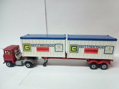 177-matchbox Super Kings Scammell Tractor And K-17 Trailer With Container Load • 29.99£