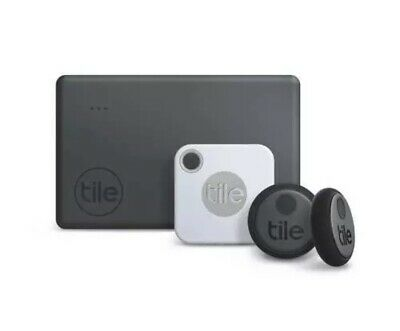 Tile Essentials Combo 4 Pack- GPS Bluetooth Tracker Key Finder Anything Locator • 64.29£