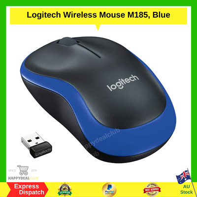 AU25.99 • Buy Logitech Wireless Mouse M185, Blue | BRAND NEW | FAST FREE SHIPPING AU