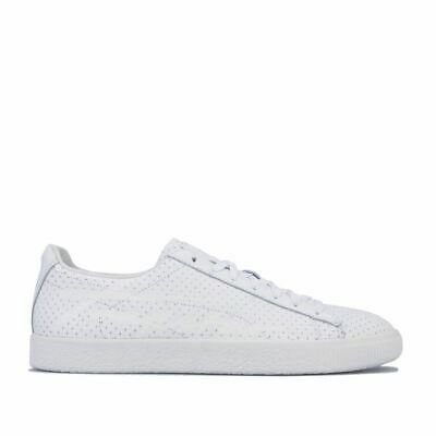Men's Puma X Trapstar Clyde Perforated Lace Up Cushioned Trainers In White • 33.94£