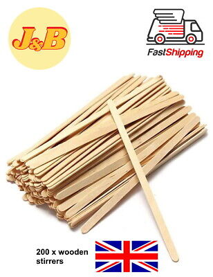 £2.49 • Buy 200 X Wooden Stirrers Perfect For Tea & Coffee 7'' Long FREE QUICK DELIVERY UK