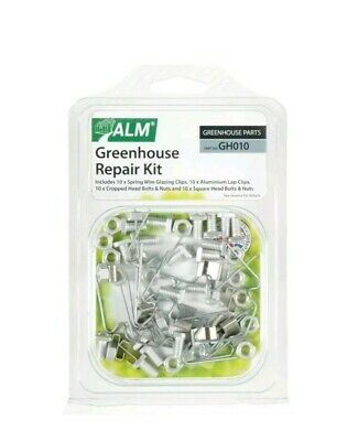 Greenhouse Repair Kit W / Z Clips Square Nuts Bolts Fixing Spares Parts 10x ALM • 11£