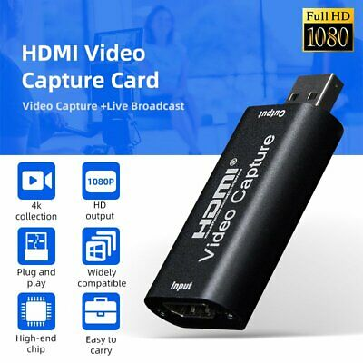 £16.14 • Buy HDMI Video Capture Card USB 2.0 HD 1080P FOR PS4 Xbox Game DVD Camera Recorder