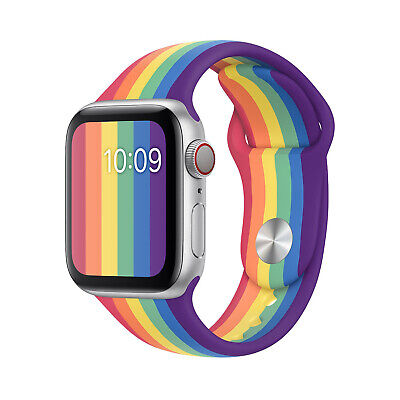 AU13.99 • Buy Rainbow Series - Colorful Band Silicone Strap For Apple Watch Series 5 4 3 2 1