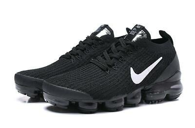 $157 • Buy NIKE AIR VaporMax 2019 Flyknit 3 Black With White LOGO Running Shoes
