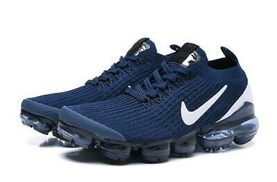 $159 • Buy NIKE AIR VaporMax 2019 Flyknit 3 Blue With White LOGO Running Shoes