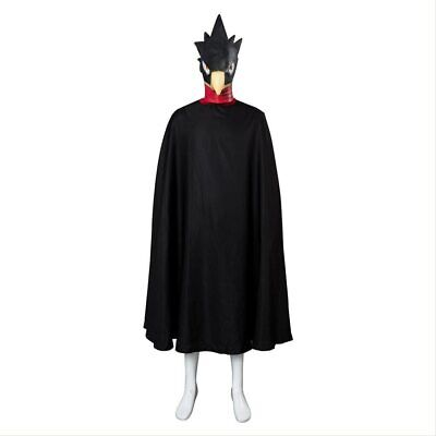 My Hero Academia Tokoyami Fumikage Cosplay Costume Eagle Outfit Cloak + Mask • 46.24£
