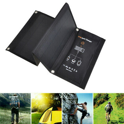 21W Portable Foldable Solar Panel Charger For IPhone X 8 Plus IPad Tablets • 34.41£