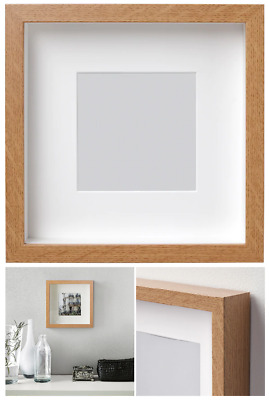 IKEA RIBBA Photo Frame Picture Display Square Box 3D Deep Frame 23x23cm 9x9in • 11.99£