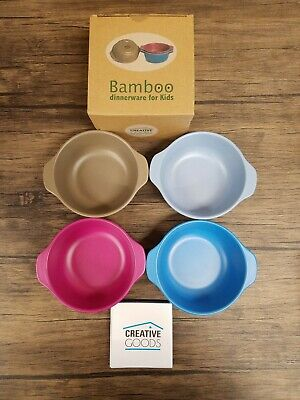 $11.99 • Buy Bamboo Dinnerware For Kids, Creative Goods, 4 Piece Bowl Set [L163]