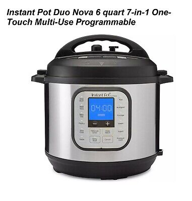 $104.99 • Buy Duo Nova 6 Quart 7-in-1 One-Touch Multi-Use Programmable Pressure Cooker