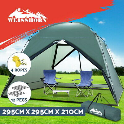 AU89.90 • Buy Weisshorn Gazebo Marquee Camping Tent 2.95X2.95M Folding Sun Canopy Shade