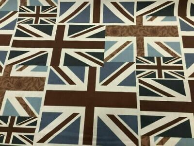 Freytts Union Jack Flag 100% Cotton Print Curtain Blind Craft Cushion Fabric • 9.50£