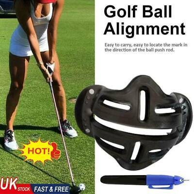 Golf Ball Stencil Template Drawing Putting Line Marker With Pen Random UK • 3.80£