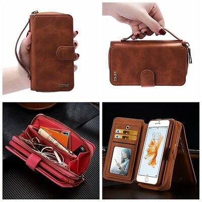 2020 Luxurious Leather Phone Case Zip Magnetic Wallet Purse Flip Cover Handbag • 13.99£