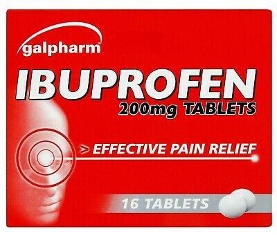 16 Galpharm Ibuprofen 200mg Tablets - Pain Relief - Migraine - Fast Dispatch • 1.99£