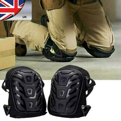 A Pair Professional Moulded Knee Pad Foam Pads With Strap Safety Work Kneepads • 11.98£