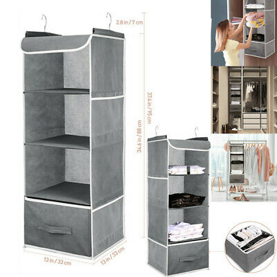 AU26.99 • Buy Wardrobe Hanging Storage Drawer Clothes Hangers Holder Hanging Closet Organizer