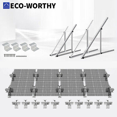 AU12.99 • Buy Adjustable Solar Panel Corner Mounting Brackets Kit & Cable Entry RV Roof Mount