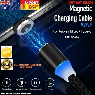 AU3.55 • Buy AU 360° Charging Cable Magnetic Charger  IOS Type-C Micro USB