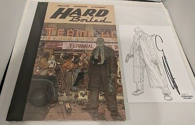 Hard Boiled By Frank Miller, Geof Darrow Oversized Hardcover With Signed PRINT • 73.99£