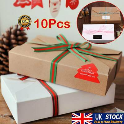 10PCS Kraft Paper Cookie Packaging Storage Bags Envelope Biscuit Gift Box UK • 9.79£