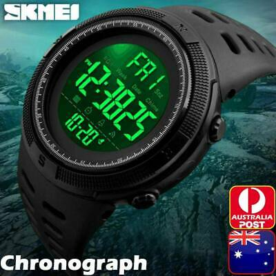 AU22.99 • Buy Men's Sport Army Military Alarm Calendar Dual 50M Waterproof Digital Wrist Watch