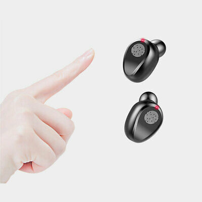 True Wireless Earbuds Bluetooth Headphones With Charging Case Stereo Sound Black • 18.59£