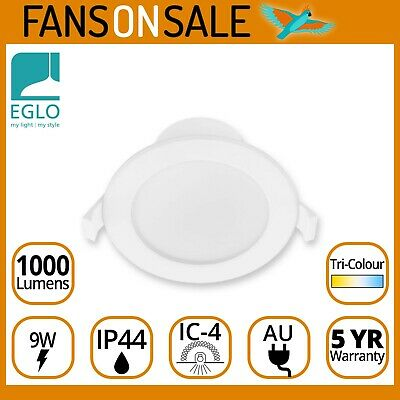 AU18.95 • Buy Eglo Rippa Dimmable LED Downlight Kit 9W Tri-Colour IP44 1000lm 5 Year Warranty